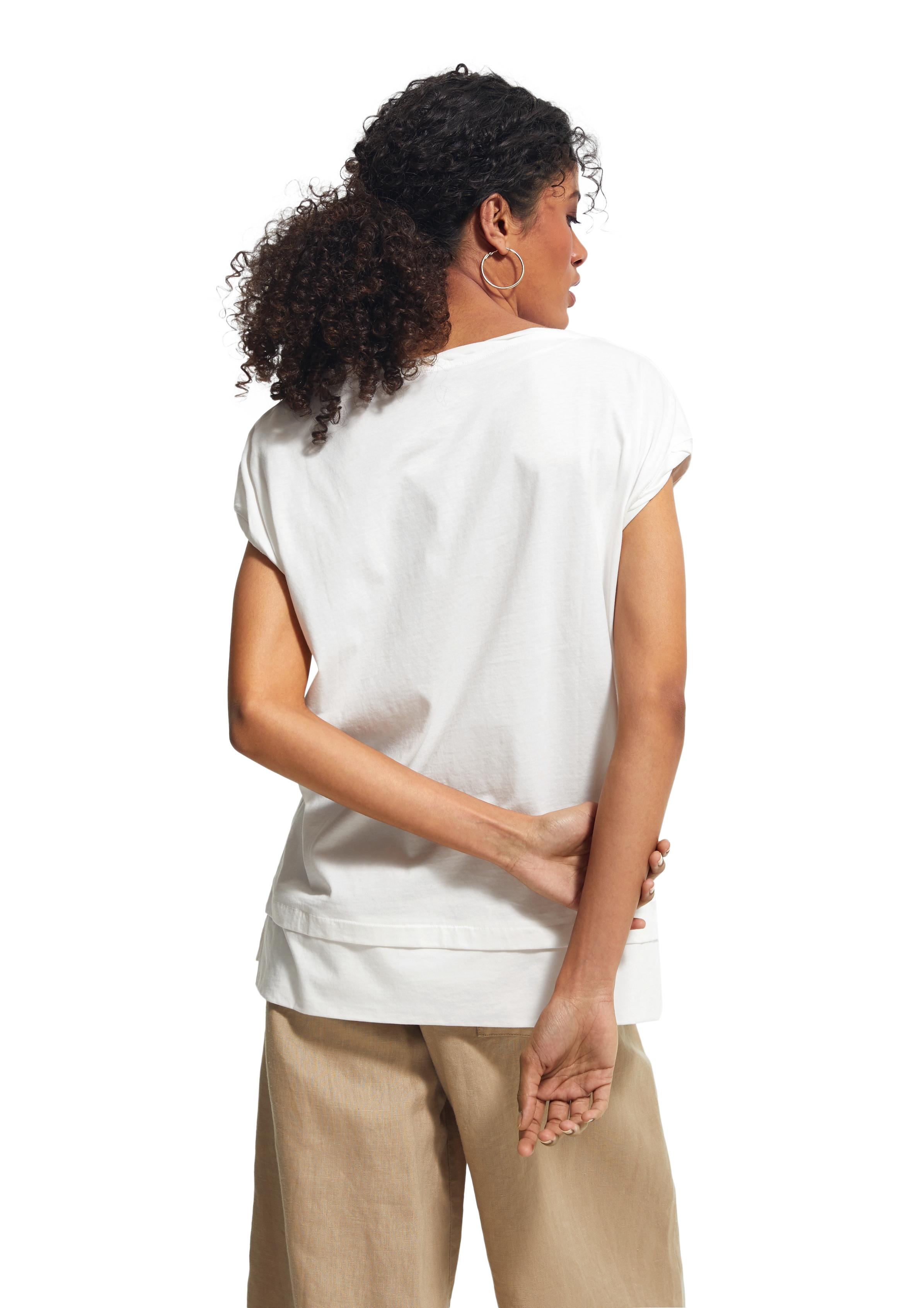 comma ci Shirt mit Frontprint