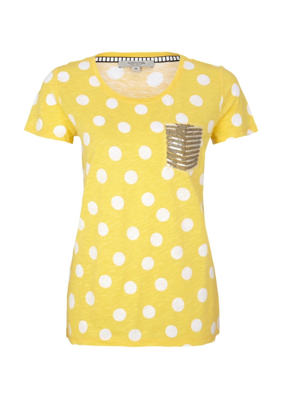 Comma Jerseyshirt mit Dot Muster
