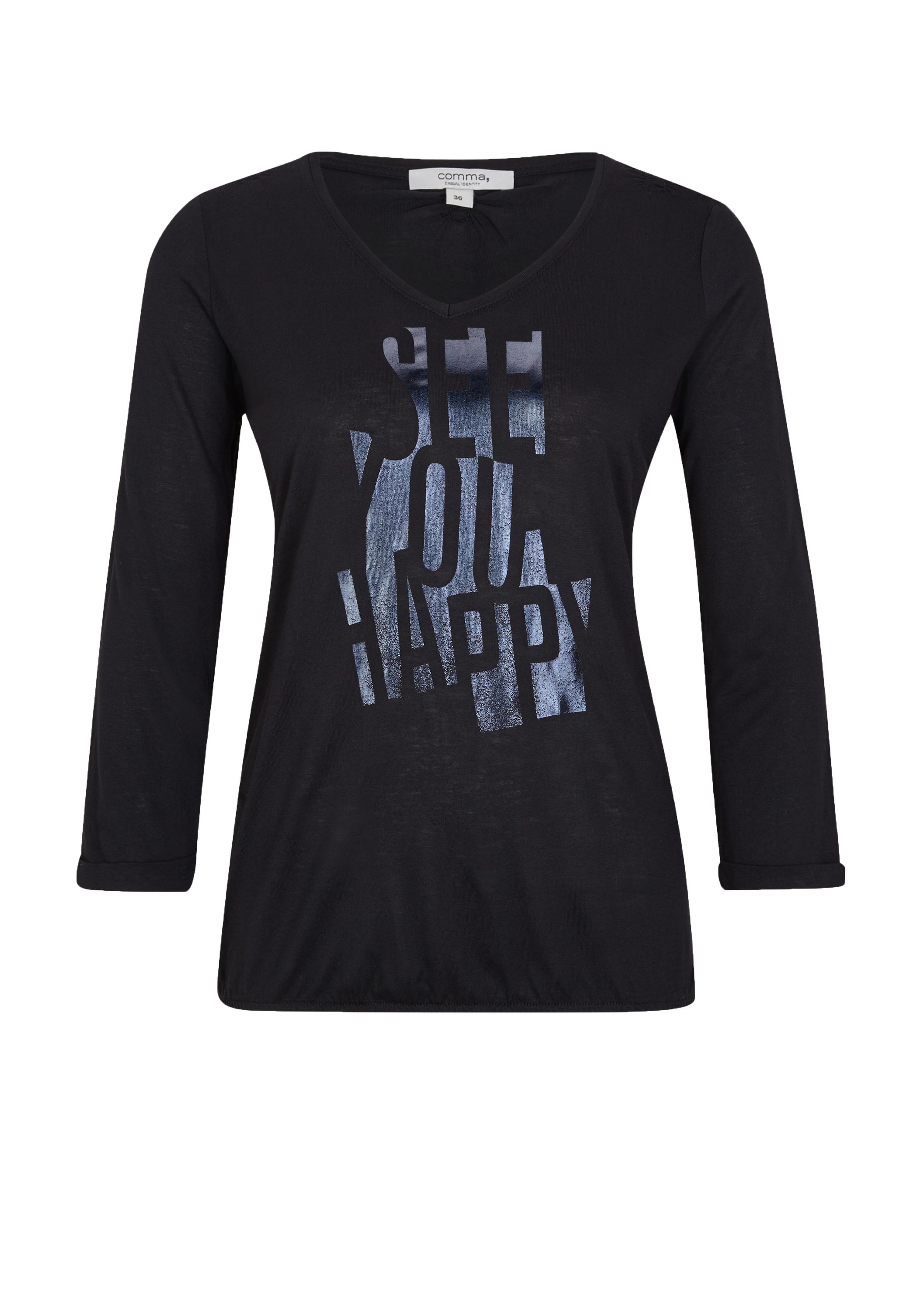 Comma Leichter Pullover mit Print