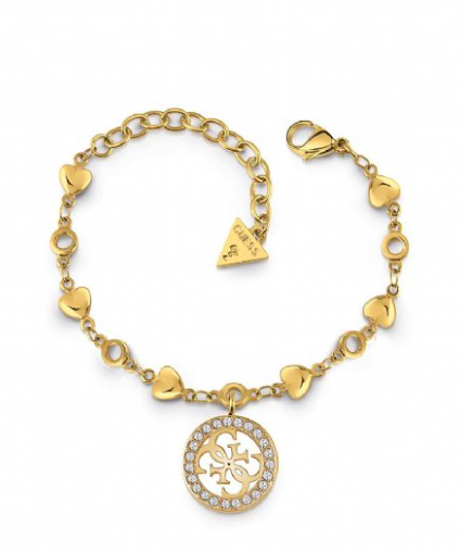 Guess HEARTS CHAIN&PAVE 4G BR (GL)
