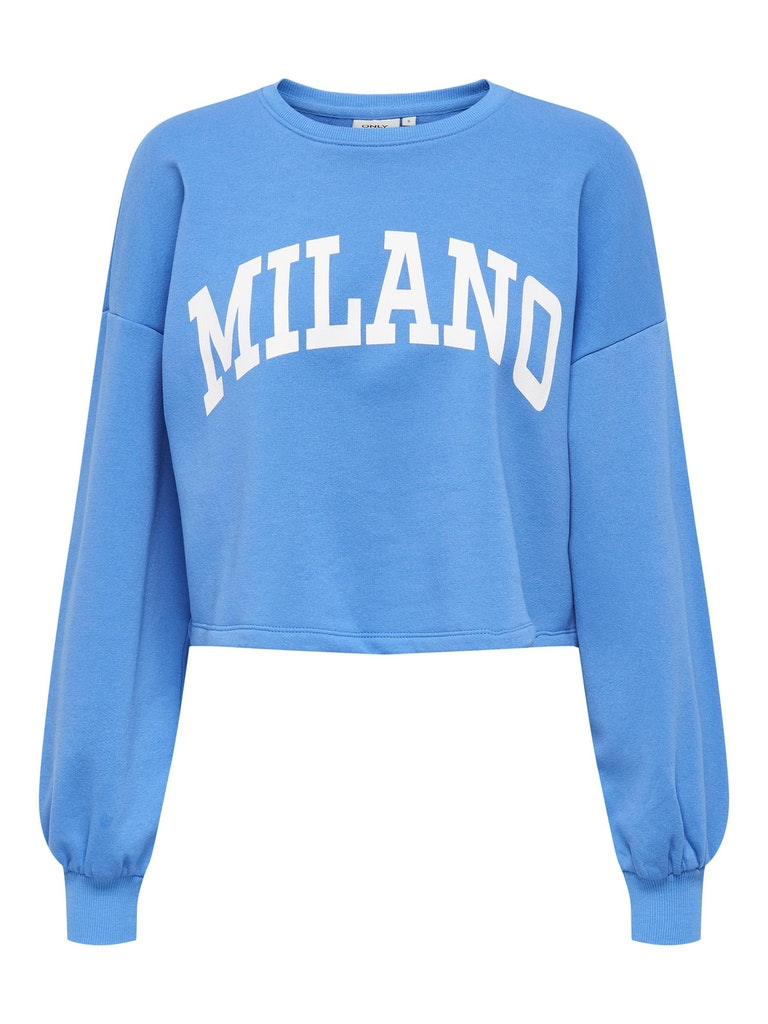 Only ONLSPENCER LIFE L/S CROPPED O-NECK SWT