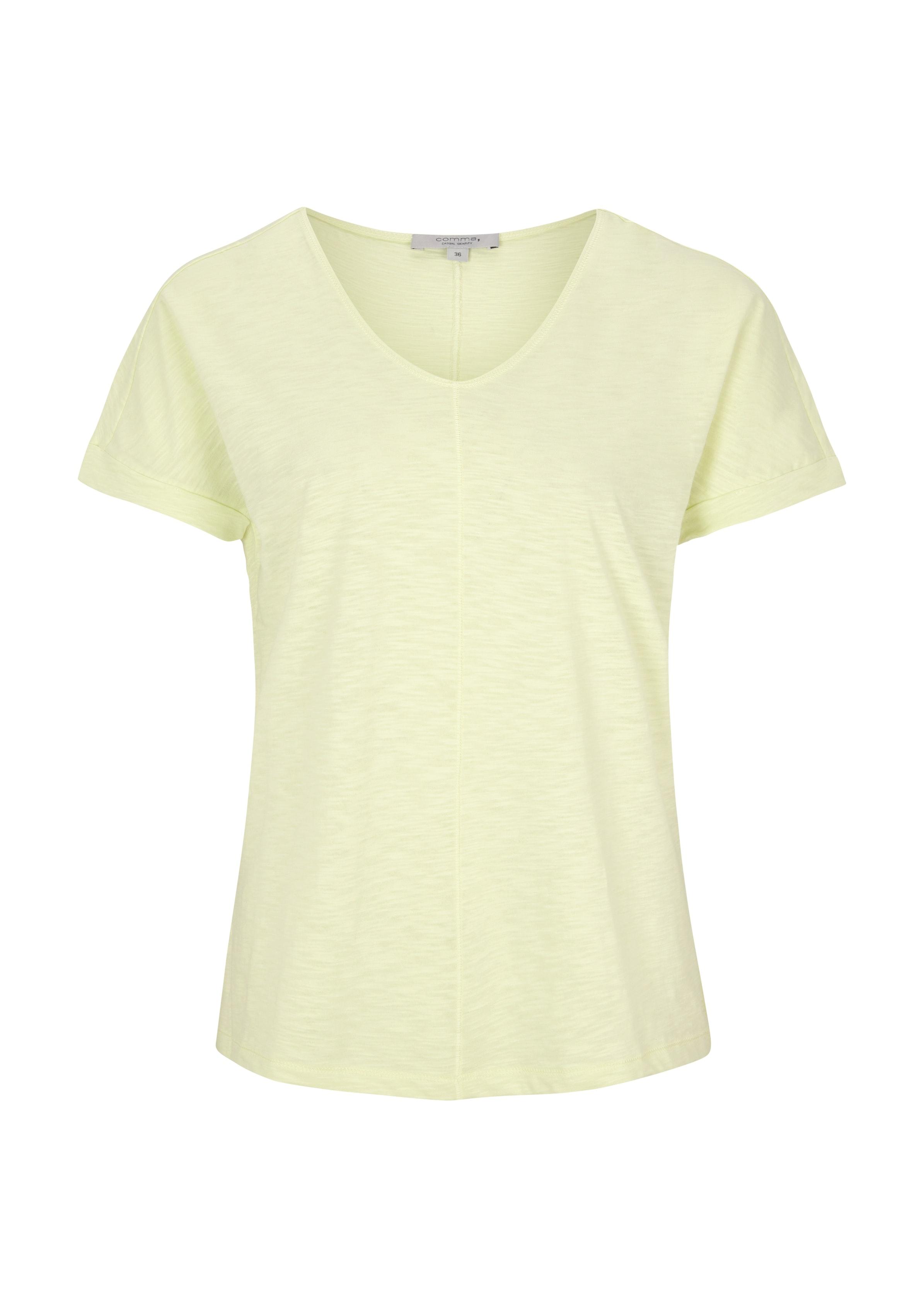 Comma V-Neck Jersery Shirt kurzarm